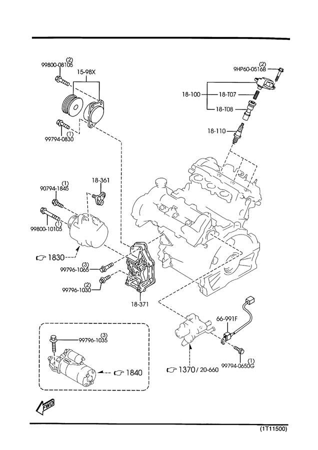 2000 mazda millenia engine electrical system 2300cc
