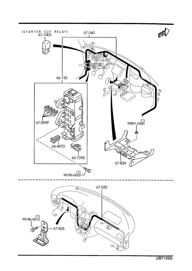 2003 mazda protege dashboard wiring harnesses