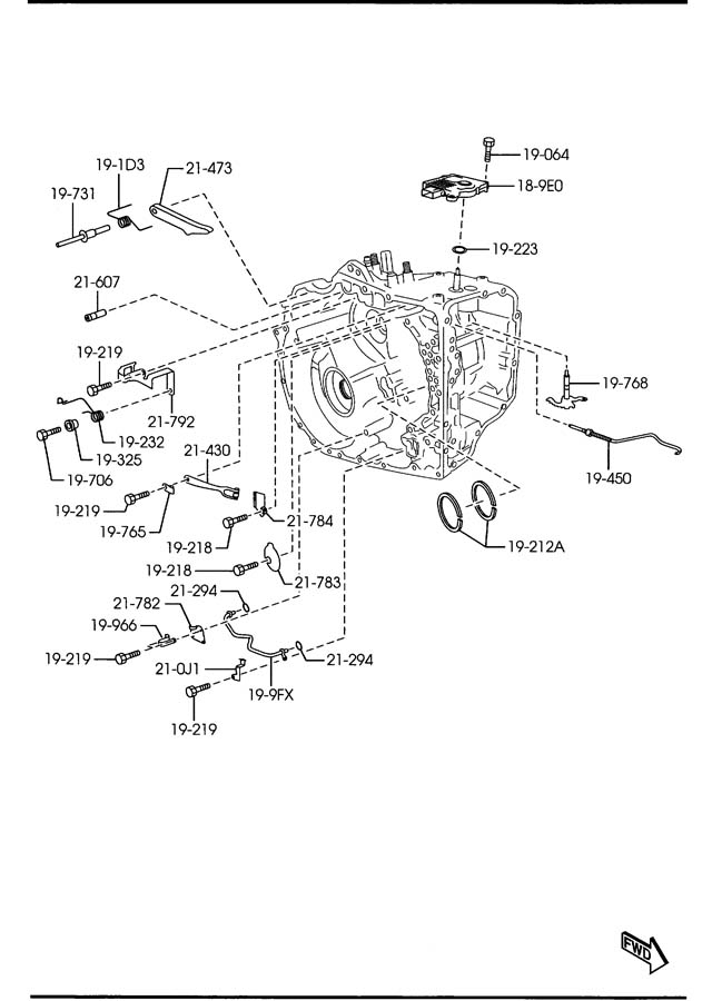 Jim Ellis Mazda >> Mazda AUTOMATIC TRANSMISSION MANUAL LINKAGE SYSTEM (6-SPEED)
