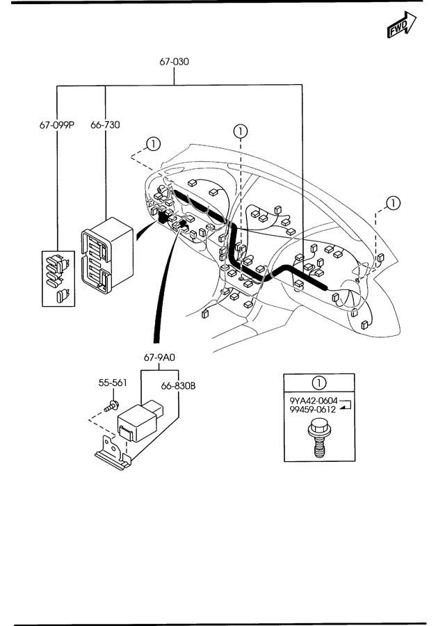 mazda rx 8 dashboard wiring harnesses