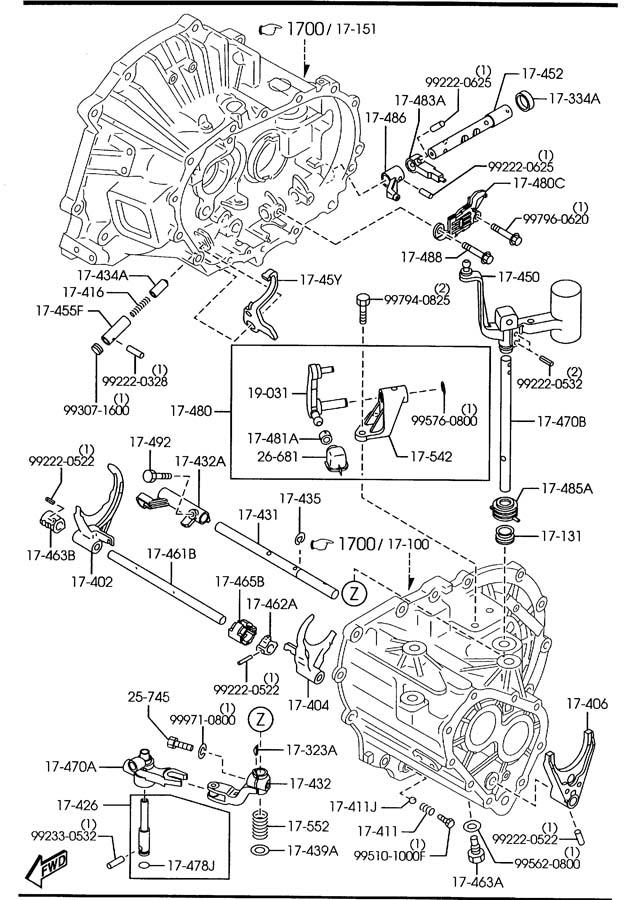 mazda 3 manual transmission change control system  5