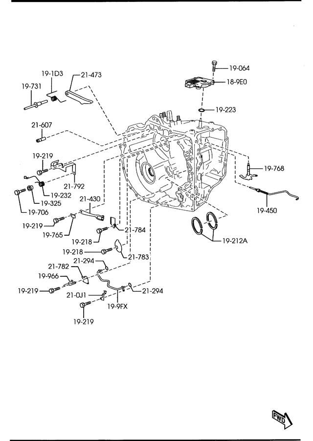 mazda 6 automatic transmission manual linkage system  6