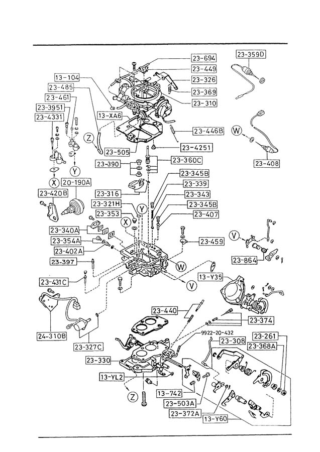 1987 mazda b2200 carburetor diagram  mazda  wiring diagram