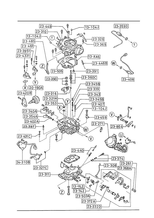 1989 mazda b2200 engine parts diagram